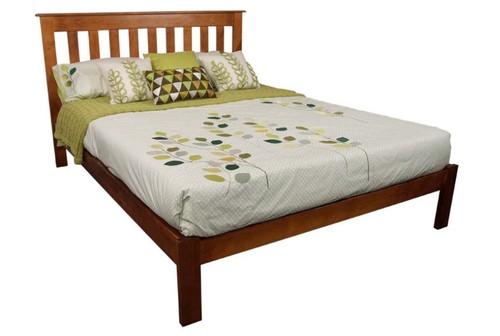 KING SINGLE CRONULLA CRKSB(b) BED WITH DOONA FOOT - ROSEWOOD(#), OLD ENGLISH(#215) OR WALNUT(#219)