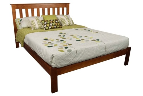 CRONULLA DOUBLE OR QUEEN 3 PIECE BEDSIDE BEDROOM SUITE - BED WITH DOONA FOOT - ROSEWOOD(#) , OLD ENGLISH(#215) , WALNUT(#219) , GREYWASH (#501)