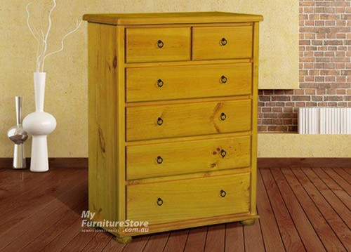 BOB 6 DRAWER TALLBOY - ASSORTED COLOURS