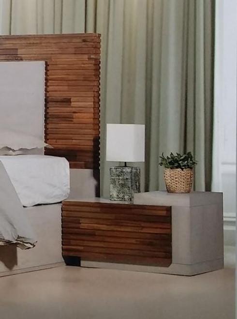 EMBRACE BEDSIDE TABLE  (12-9-26-1)  - ARTISAN OAK / NATURAL