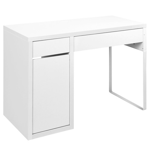 MAYA OFFICE COMPUTER  DESK WITH DRAWERS  (DESK-DRAW-105-WH-AB) - WHITE