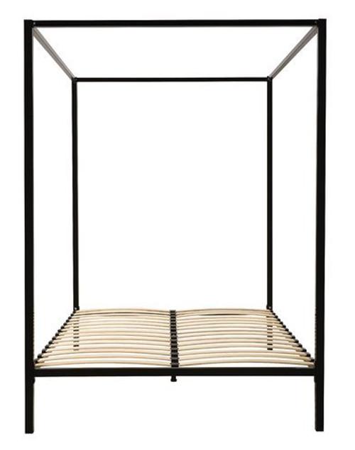 DOUBLE  ADEN  4 POSTER METAL BED ( 817853) -   BLACK