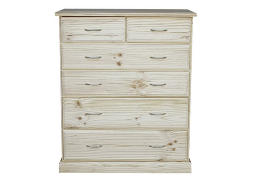 AVOCA CAV306 6 DRAWER TALLBOY - ASSORTED COLOURS AVAILABLE