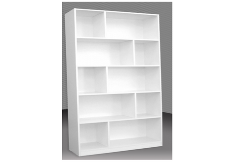 6FT STAGGERED BOOKCASE (ST6x4) - 1800(H) x 1200(W) - ASSORTED COLOURS