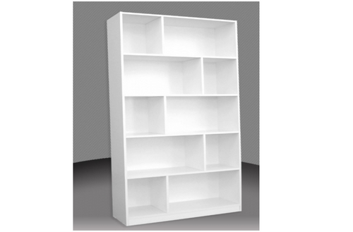 6FT STAGGERED BOOKCASE (ST6x3) - 1800(H) x 900(W) - ASSORTED COLOURS