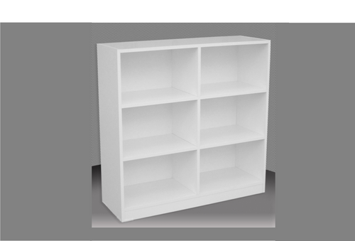 4FT BOX BOOKCASE (BOX4x4) - 1190(H) x 1200(W) - ASSORTED COLOURS