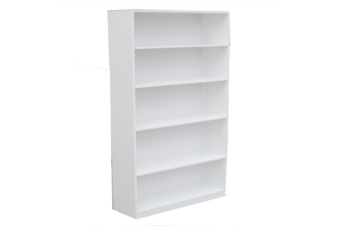6FT HIGH BOOKCASE (6x4x18) - 1800(H) x 1200(W) - ASSORTED COLOURS