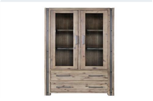 SWAN  (3565)  2 DOORS / 2 DRAWERS DISPLAY UNIT - 1810(H) X 900(W) -   (19-20-15-3-11-25-1-18-4)- BRUSHED GUM