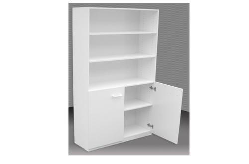 6FT HALF DOOR BOOKCASE (6x2D) - 1800(H) x 600(W) - ASSORTED COLOURS