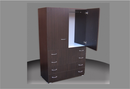 CHILDS WARDROBE (CW800-D4DRW) 2 DOOR / 4 DRAWER WITH METAL RUNNERS - 1800(H) x 800(W) - ASSORTED COLOURS AVAILABLE