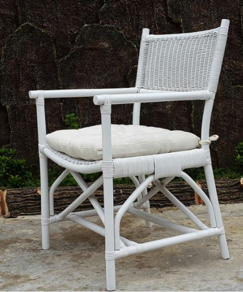 DIRECTOR CANE CHAIR (DET814) -  SOLID WHITE
