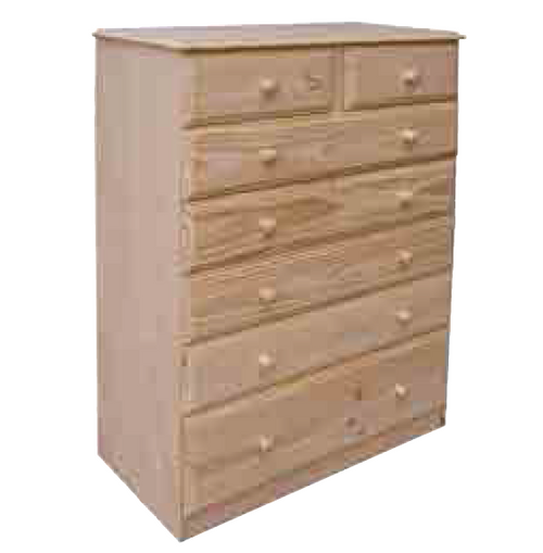"36""  7  DRAWERS TOP SPLIT  CHEST  1330(H) - 12"" BOTTOM - STAINED"