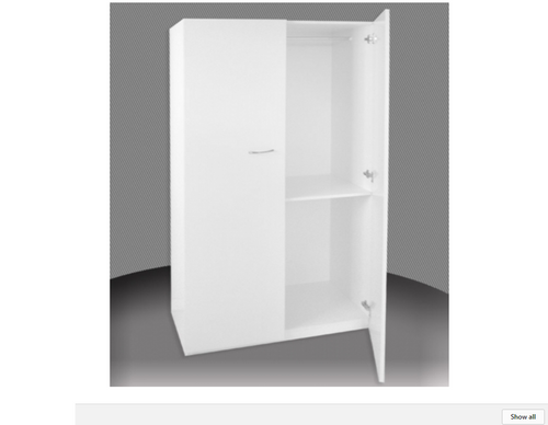 2FT ADULTS  HALF HANGING 2 DOOR ROBE (BCAHALF24D-1) -  1800(H) X 600(W) -  ASSORTED COLOURS AVAILABLE