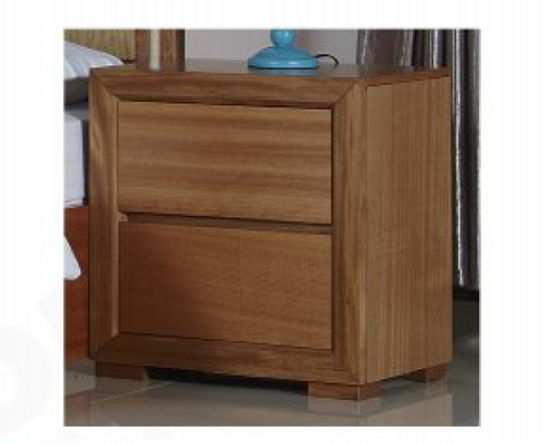 DUAS   BEDSIDE WITH 2 DRAWERS - (MODEL 1-21-4-18-5-25) - MAPLE