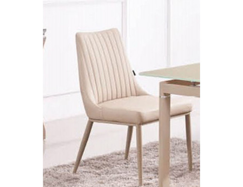 COMBO (9015) LEATHERETTE DINING CHAIR (MODEL-2-112-12-1) - KHAKI / WHITE