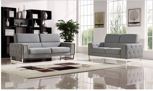 BULOND  3 +2 SEATER   FABRIC   LOUNGE SUITE - (MODEL-2-18-21-20-20-5-12-20)- LIGHT GREY
