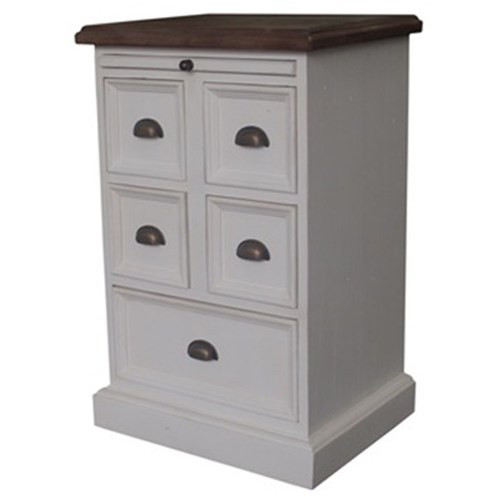 VERMONTE  5 DRAWER CHEST  - 770(H) X 500(W)  -2 TONE