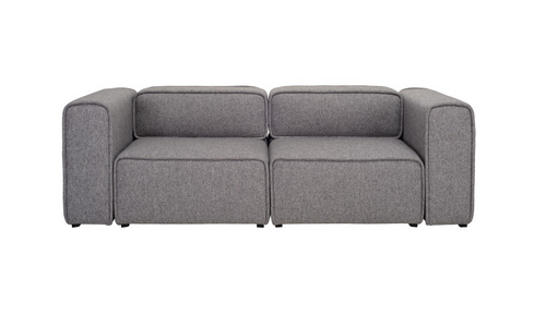 ACURA TWO (2)  SEATER   FABRIC  ARM CHAIR - PEBBLE