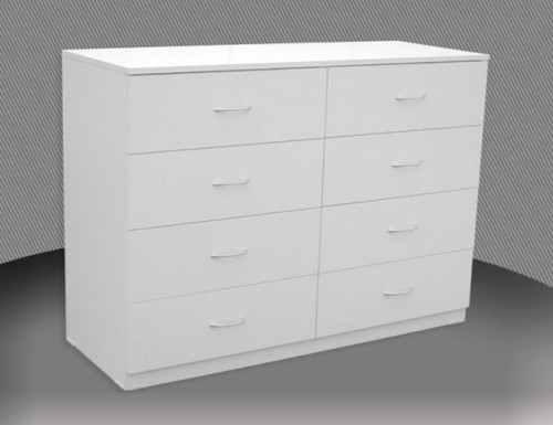 4FT 6 DRAWER SPLIT CHEST (CD648) WITH METAL RUNNERS (NOT AS PICTURED) - 1460(H) - ASSORTED COLOURS
