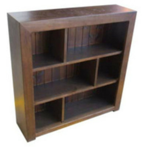 DERBY STAGGERED BOOKCASE WITH T&G BACK - 6 x 5 - 1800(H) X 1500(W) - ASSORTED COLOURS AVAILABLE