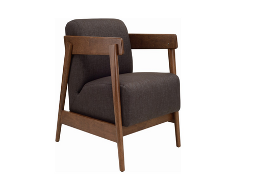 DAEWOOD FABRIC ARM CHAIR  -DARK GREY