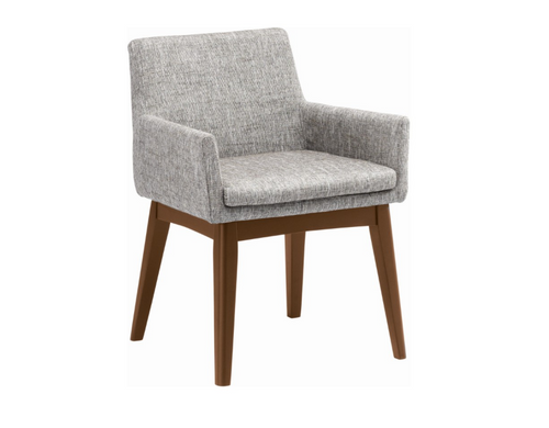 MAYA FABRIC ARM CHAIR - PEBBLE
