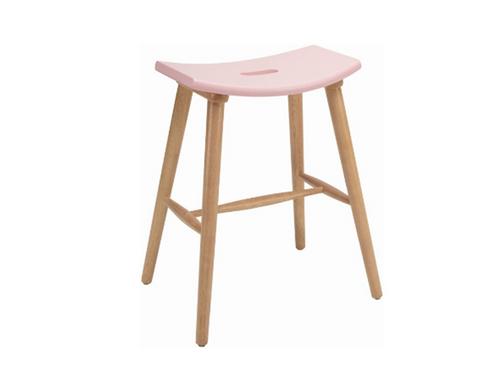 HOLLIS SCANDINAVIAN COUNTER STOOL - 620H -  ORCHID PINK