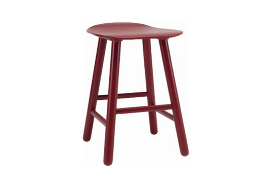 HETTY SCANDINAVIAN COUNTER STOOL - 490H -  MAROON