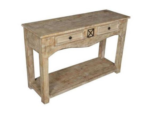 DENNY  2 DRAWERS CONSOLE TABLE  (3-15-1-19-20-1-12) - 780(H) X 1200(W) X 400(D) - NATURAL