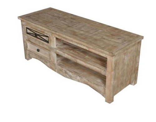 DENNY TV ENTERTAINMENT UNIT WITH 2 DRAWERS    (3-15-1-19-20-1-12) -1200(W)- NATURAL