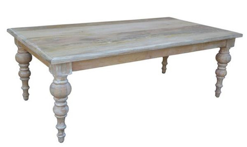 CONSTANCE  COFFEE  TABLE -  450(H) X 1300(W) X 700(D) - DISTRESSED WHITEWASH