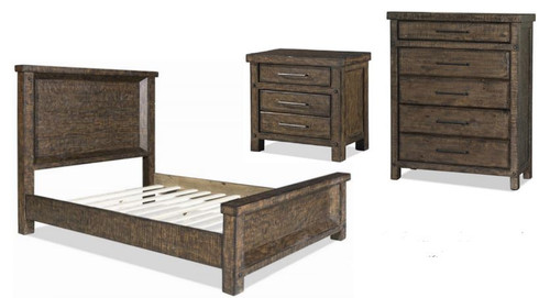 AUSTIN  B112 QUEEN 4 PIECE TALLBOY BEDROOM SUITE- RUSTIC