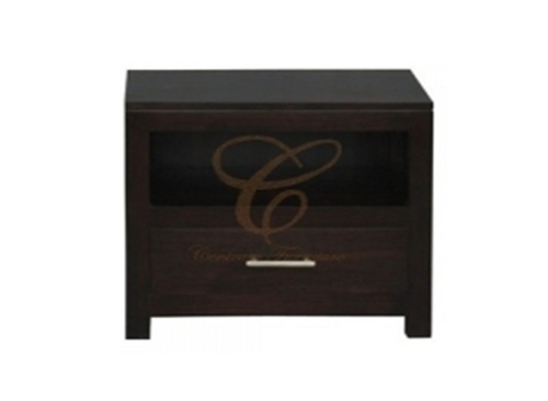 PARIS / (MILAN) 1 DRAWER LAMP TABLE (LT 001 PNMK / (PNM) - 550(L) - CHOCOLATE