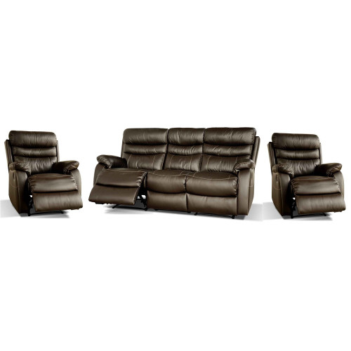 CHANELLE 3RR + R + R FULL LEATHER - ESPRESSO