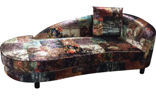 GEORGETTE CHAISE UPHOLSTERED IN LINEN FABRICS - DIGITAL PRINT PATCHWORK