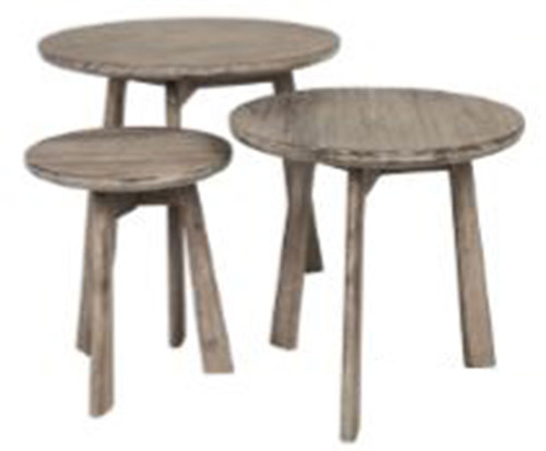 CANDY ROUND NEST OF TABLE - CEMENT