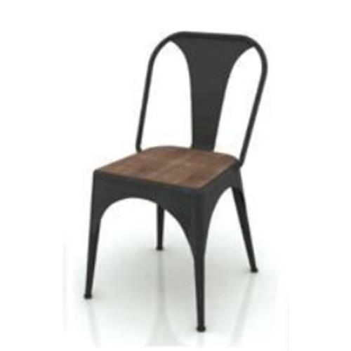CABANA  DINING CHAIR  - MOCHA GREY / BRUSHED BLACK