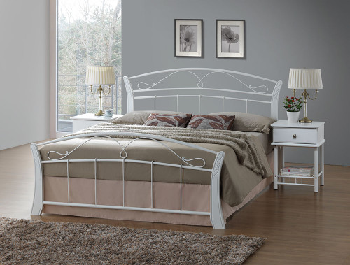 CHESTER DOUBLE OR QUEEN 4 PIECE TALLBOY BEDROOM SUITE (WITH 1 DRAWER BEDSIDE) - WHITE