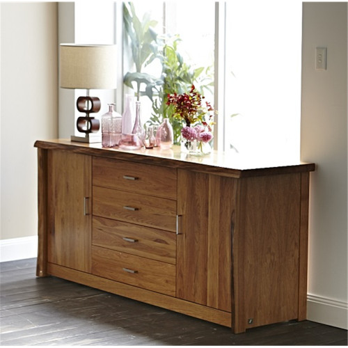 ARGYLE  HARDWOOD  2 DOOR / 4 DRAWERS BUFFET 825(H) x 1850(W)   - NATURAL FINISH