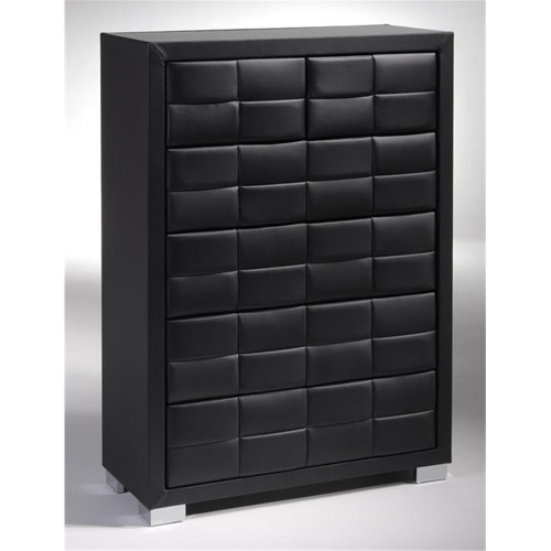 CAVALLI 5 DRAWER TALLBOY - SMOKE