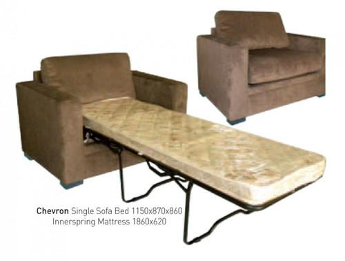 CHEVRON / NEWTON LOOSE BACK SINGLE SOFA BED - SHONA GRANITE COCO, SHONA GRANITE PEACAN OR TOBACCO