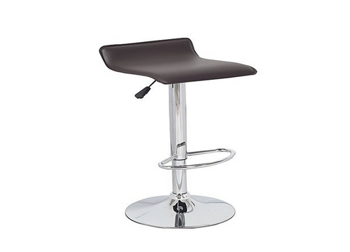 DIAZZY (BARS-51BR-ONE)    PVC CONTEMPORARY S-CURVE KITCHEN BAR STOOLS - SEAT: 660 - 870(H) - BROWN  OR BLACK