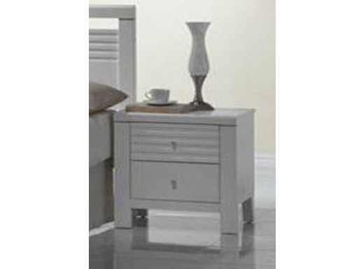 DALLAS / FION 2 DRAWER BEDSIDE - WHITE
