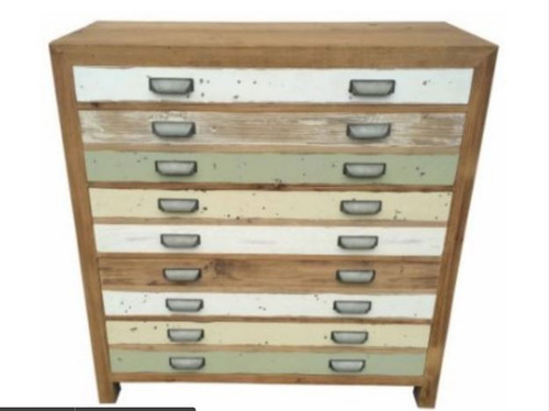 TREND (VTR-021) 5 DRAWERS  TALLBOY  CHEST 1050(W) x 450(D) - LIGHT COLOURFUL