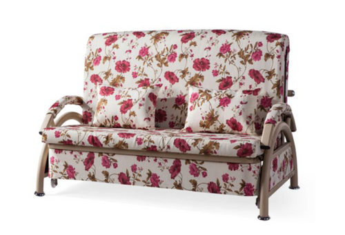 BARBADOS II  (MODEL-9010)  2 SEATER  FABRIC CLICK CLACK SOFA BED - ASSORTED COLOURS