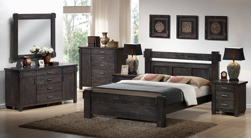 BUCKINGHAM (MODEL - 19-5-1-20-20-12-5) QUEEN 3 PIECE BEDSIDE BEDROOM SUITE - BLUE