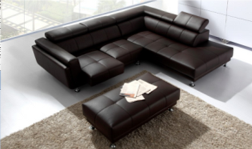 EMILY LEATHERETTE CORNER LOUNGE WITH CHAISE SUITE - ASSORTED COLOURS