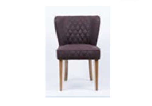 ANTHONY (GKM-6) SINGLE SEATER SOFA CHAIR - BROWN WITH DIAMOND PATTERN