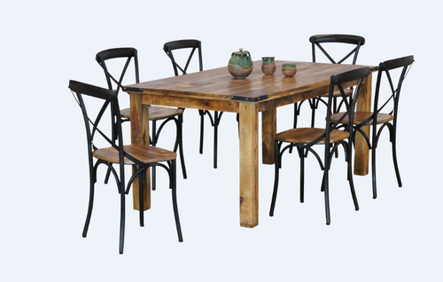FOUNDRY 4 LEGGED TABLE ONLY 1760(L) x 900(W) - RUSTIC MANGO