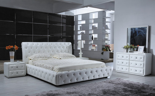 BETHANY   (9391) KING 3 PIECE BEDSIDE BEDROOM SUITE - COMBINATION LEATHER - CHOICE OF COLOURS
